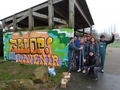 Atelier graffiti_lycée agricole Daniel Brottier_Apprentis d'Auteuil